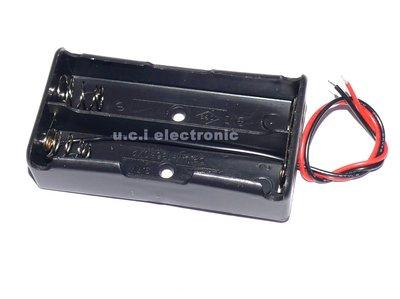 【UCI電子】(17-4) 18650電池盒 2節電池盒 並聯 充電座 18650電池盒帶線