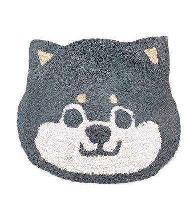 日本 可愛動物造型地墊 企鵝腳踏墊 黑柴君Q版腳踏墊 療癒系列地毯