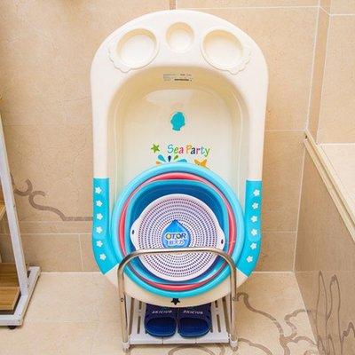 BV67419  落地盆架寶寶澡盆洗臉盆吸盤式防滑衛生間廁所盆架子 店長 新鮮貨