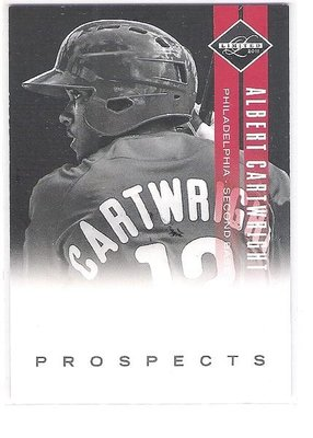 2011/2012 PANINI LIMITED PROSPECT #19 ALBERT CARTWRIGHT 017/249  限量 新人卡