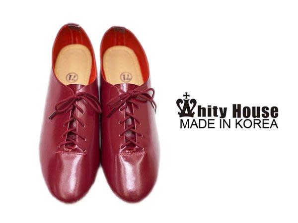 =WHITY=韓國MZ品牌 韓國製 真皮牛皮質感女孩必備超柔軟不磨腳自留牛津鞋 大碼小碼  S3FA666