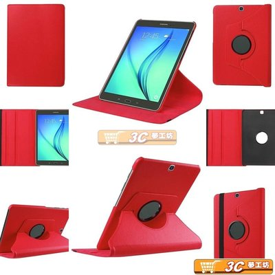 【3C夢工坊】Samsung Galaxy Tab S2 8.0 T710 T715 可立式旋轉皮套-紅色