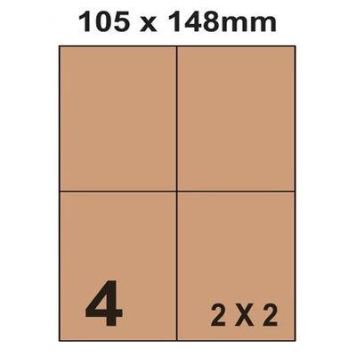 [職人の紙.工場販売] 尖端 系列/進口牛皮標籤貼紙/2 x 2/直角無邊/4小格/1000張(入)/含稅價 !