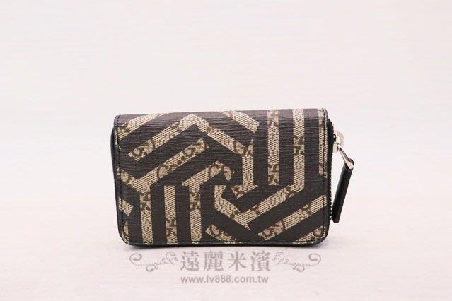 【遠麗】台北大安店~A8481 gucci咖緹PVC黑色幾何ㄇ拉零錢包 真品/正品 現貨