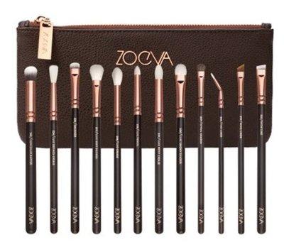 德國 ZOEVA Rose Golden Complete Eye Set(Vol. 1)12件玫瑰金眼部刷具【愛來客】