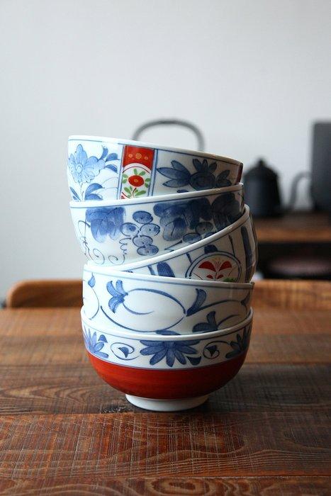 發現花園生活館~日本製 有田燒 (30971 )大碗公 麵碗  5入組