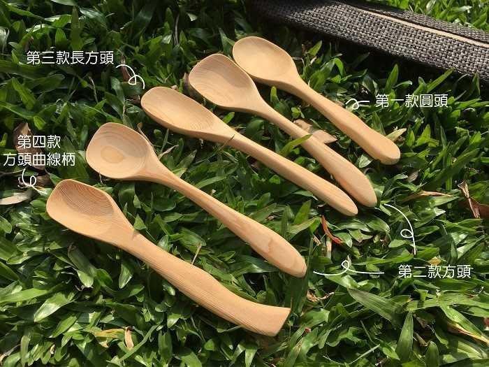 【光合作用】QC館 台灣檜木手工湯匙 天然無上漆 100%台灣製造 愛地球 eco 舊木、漂流木,重生再利用 抗菌、防霉