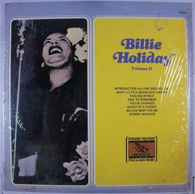 《二手美版黑膠》Billie Holiday Volume II