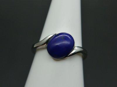 《青金石專區》《戒指》天然青金石Lapis lazuli  戒指 戒子 戒圈#12.5 (4715)