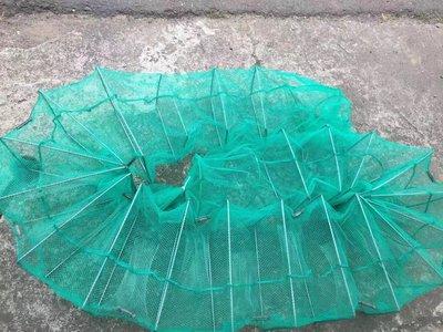 *蝶飛*加固型 5米 長城網 蜈蚣網 地籠 折疊漁網 蛇籠 陷阱 蝦 蟹 溪魚 休閒