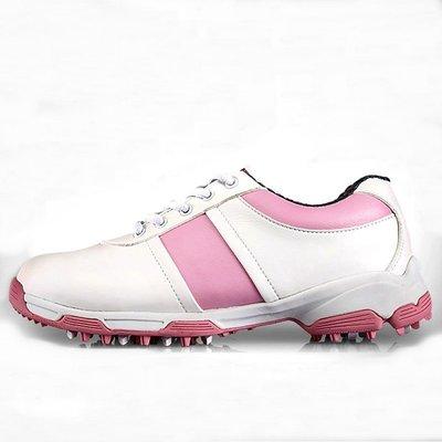 高爾夫球鞋 女款 超纖皮 防側滑專利 3D導氣槽專利 運動鞋