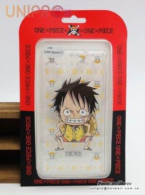 【UNIPRO】SONY Xperia C3 魯夫 航海王 One Piece 透明軟殼TPU 手機殼 海賊王
