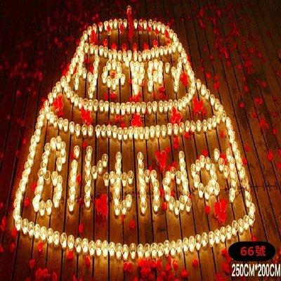 排字 蠟燭 大蛋糕 豪華生日 愛心 IOU 生日快樂 求婚蠟燭 情人節禮物 浪漫套餐 生日66號【塔克百貨】