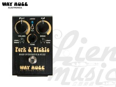 『立恩樂器』免運優惠 送短導線 WAY HUGE WHE214 Pork & Pickle Bass 破音 效果器