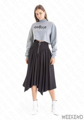 【WEEKEND】 GAELLE BONHEUR 特殊剪裁 拉鍊 半身裙 黑色