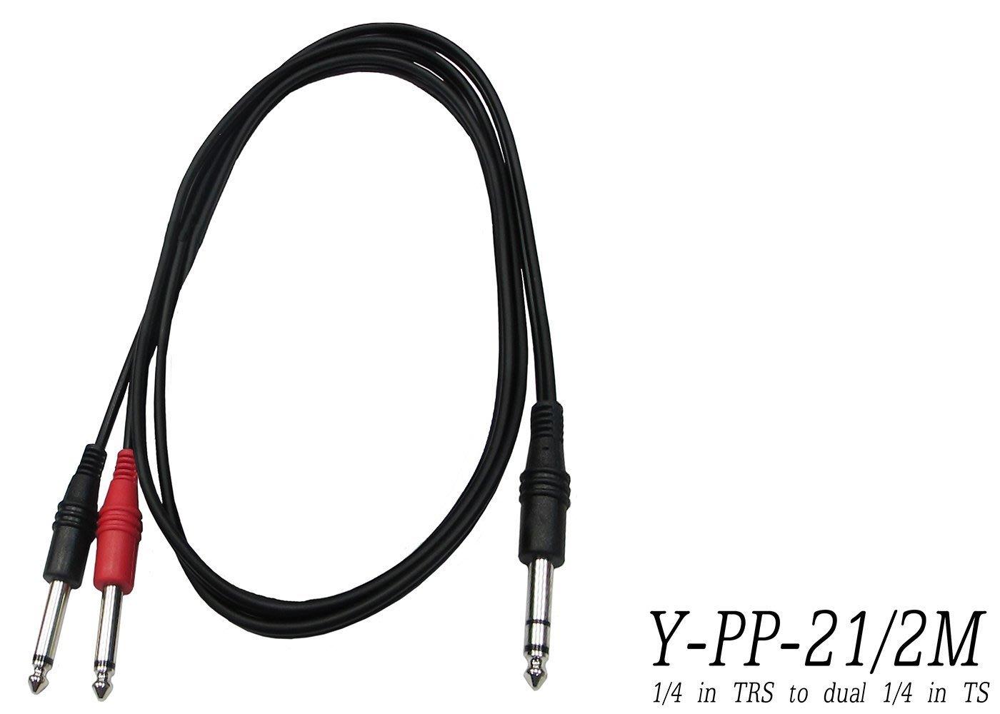 【六絃樂器】全新 Stander Y-PP-21 Y型訊號線* 2米 / 6.3mm 立體 to 2x6.3mm 單軌