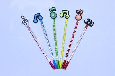 【老羊樂器店】音符文具音符木頭鉛筆 音樂鉛筆 音符 鉛筆 文具 (單隻)