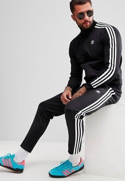 【Luxury】Adidas Originals 愛迪達 黑白 運動褲 運動長褲 三條線 CW1269 黑色 窄版