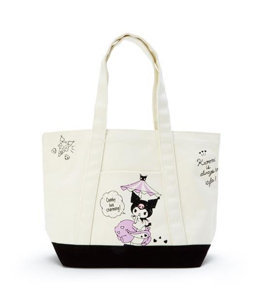 【莓莓小舖】正版 ♥ Sanrio 三麗鷗 Kuromi 酷洛米 帆布手提袋 側背袋 肩背袋