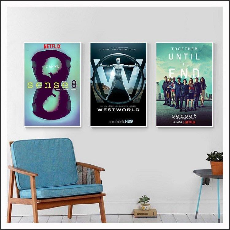 超感8人組 Sense8 西方極樂園 Westworld 西部世界 電影海報 掛畫 嵌框畫 @Movie PoP #
