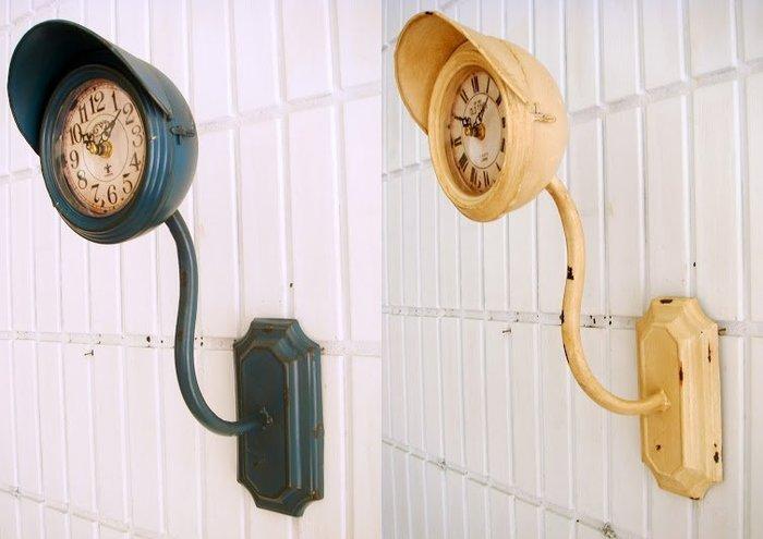 ~蘇菲亞精品傢飾~LOFT工業風復古仿舊號誌燈掛鐘壁鐘