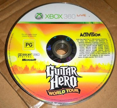 XBOX360 GAME --Guitar Hero World Tour 吉他英雄 世界巡迴   /2手
