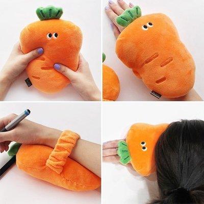 韓國 PINKFOOT 胡蘿蔔 手腕枕頭 午睡枕 紓壓墊│z8718