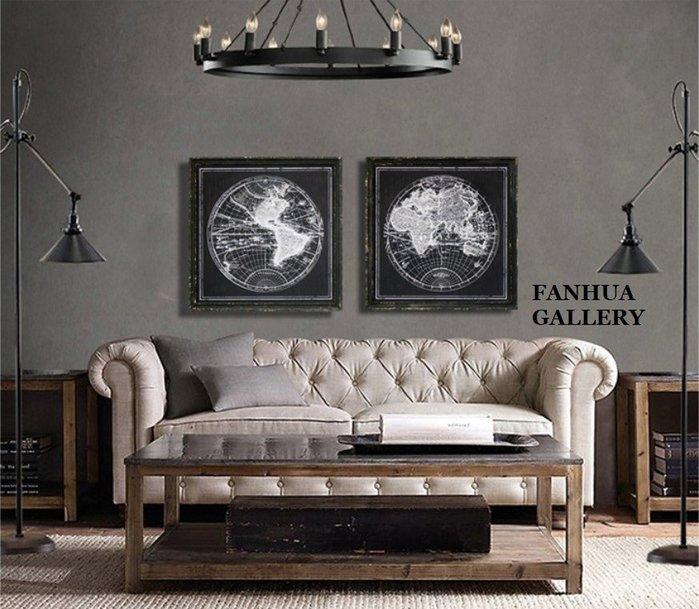 C - R - A - Z - Y - T - O - W - N 美式復古黑白世界地圖裝飾畫實木掛畫書房咖啡店餐酒館工業風黑白壁掛文藝個性時尚工作室裝飾壁掛畫
