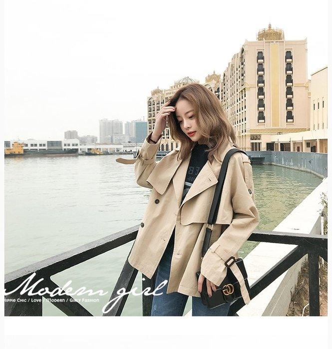 Modem Girl♥100%實拍 OVERSIZE質感寬鬆短板風衣