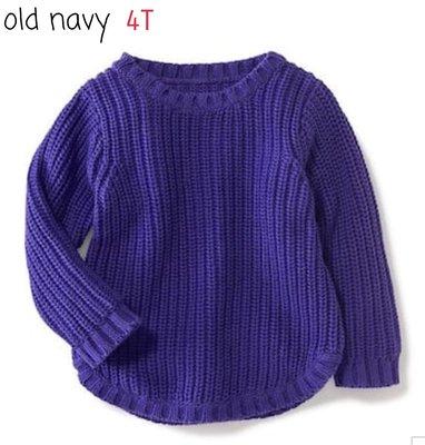 ☆小桃子☆Old navy 藍紫色針織上衣~ 4T 現貨