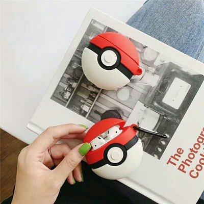 POKEMON 精靈球airpods case蘋果藍芽耳機盒保護套