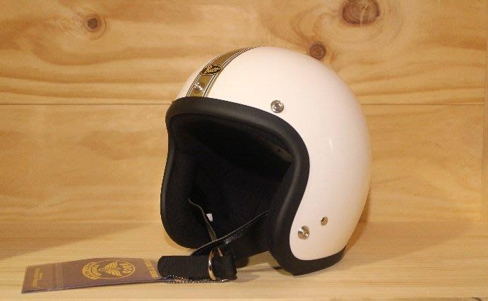 (I LOVE樂多)BUCO GOLDEN STRIPE 4/3復古安全帽(史上最悠久經典的安全帽品牌)