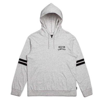 Brixton - WOODBURN L/S HOOD KNIT 灰色 薄 帽TEE 現貨販售【 LOYALTY 】