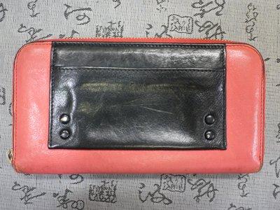 CHLOE  原廠盒裝雙色牛皮拉鍊長夾 保證真品