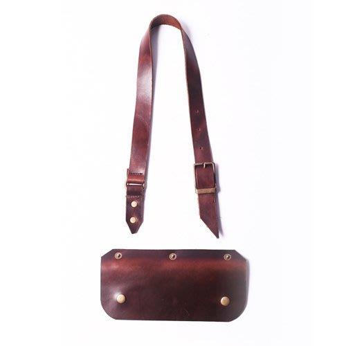 點子包 iclea X bag │皮帶式手工工作圍裙脖圍單賣(油蠟牛皮)