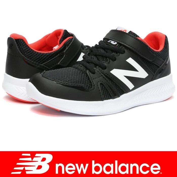 鞋大王New Balance KV570BOY 黑色 黏帶運動鞋(童鞋)【免運費,加贈襪子】710NB