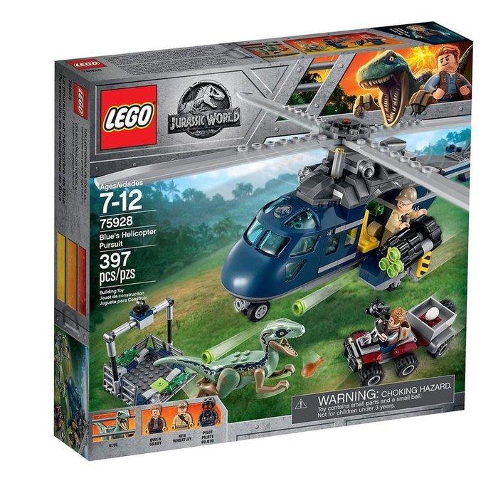 【樂GO】LEGO 樂高 75928 侏羅紀世界系列 小藍的直升機追逐 Bluc's hclicoptcr 原廠正版