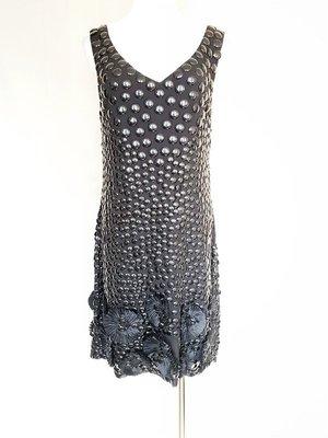 【萍萍】義大利 Blugirl Blumarine 高檔 絲silk 手工 洋裝 i42