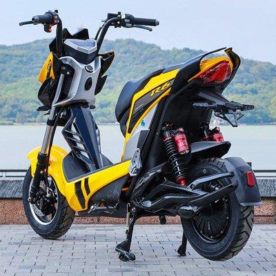 雅朵漫極客電動車x戰警踏板電摩戰狼電瓶車男改裝新款高速72v電動摩托車