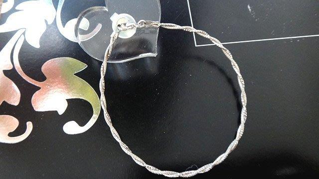義大利白K金手環~14K金手環~585手環~ 手環 非手鍊喔!A0B61
