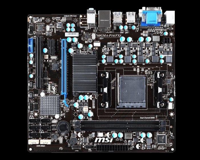 [電腦叢林資訊]-二手微星760GMA-P34 (FX)主機板 AM3+腳位-青埔.中壢 到府電腦維修/維修電腦-無檔板