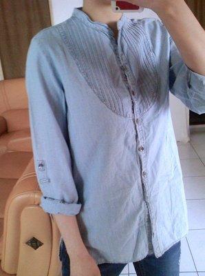全新  ZARA  淺藍色 牛仔襯衫 S號  原價1790