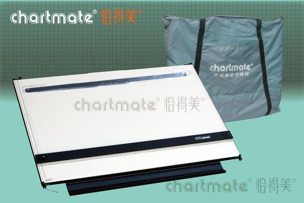 chartmate 恰得美 製圖桌:173PR-90P+AT30AB A1攜帶式製圖板+製圖用三角板