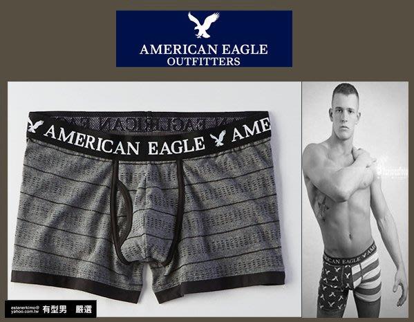 有型男~ AE American Eagle VS CK內褲 Underwear 短版黑灰條紋 XS S M L 貝克漢