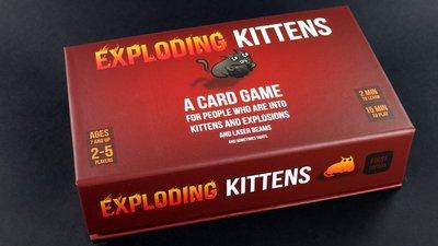 【桌上遊戲】Exploding Kittens First Edition爆炸貓 KS 爆炸小貓 爆炸貓咪 反人類