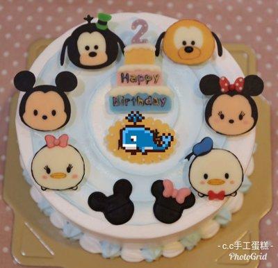 *CC手工蛋糕* - 迪士尼 米奇 米妮 高飛 唐老鴨 布魯托 六吋 造型蛋糕 生日蛋糕 (板橋中和,中和環球購物中心旁)