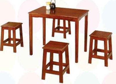 【南洋風休閒傢俱】典雅餐桌椅系列 –2x3田園油木餐桌椅組  復古原木質餐桌組 懷舊桌椅組(TU178 TU142)