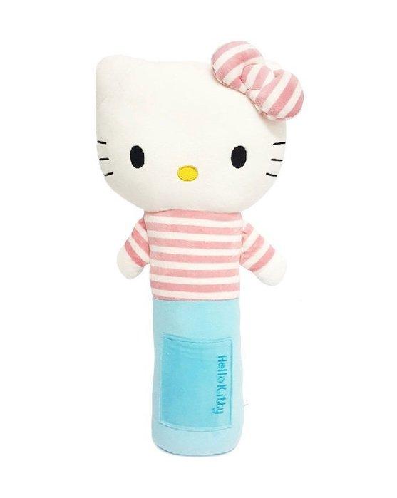【小糖雜貨舖】韓國 安全帶 抱枕 - 凱蒂貓 Hello Kitty (藍) 安撫娃娃 推車汽座玩具