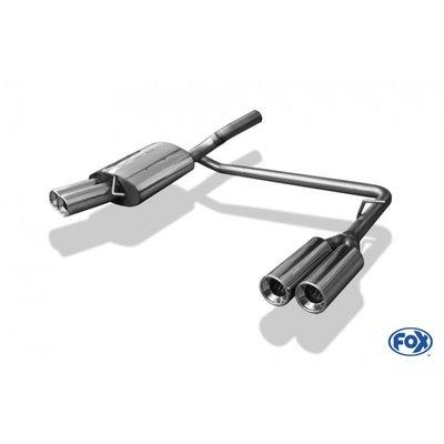 德國 Fox 排氣管 VW 福斯 Passat 3C CC 2.0 TDI 尾段 雙邊 四出 圓形 專用 05-15