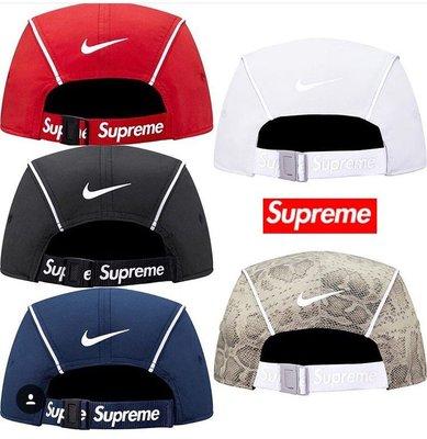 【超搶手】全新正品2016聯名Supreme Nike Air Max 98 Running Hat反光蛇紋夜跑 棒球帽